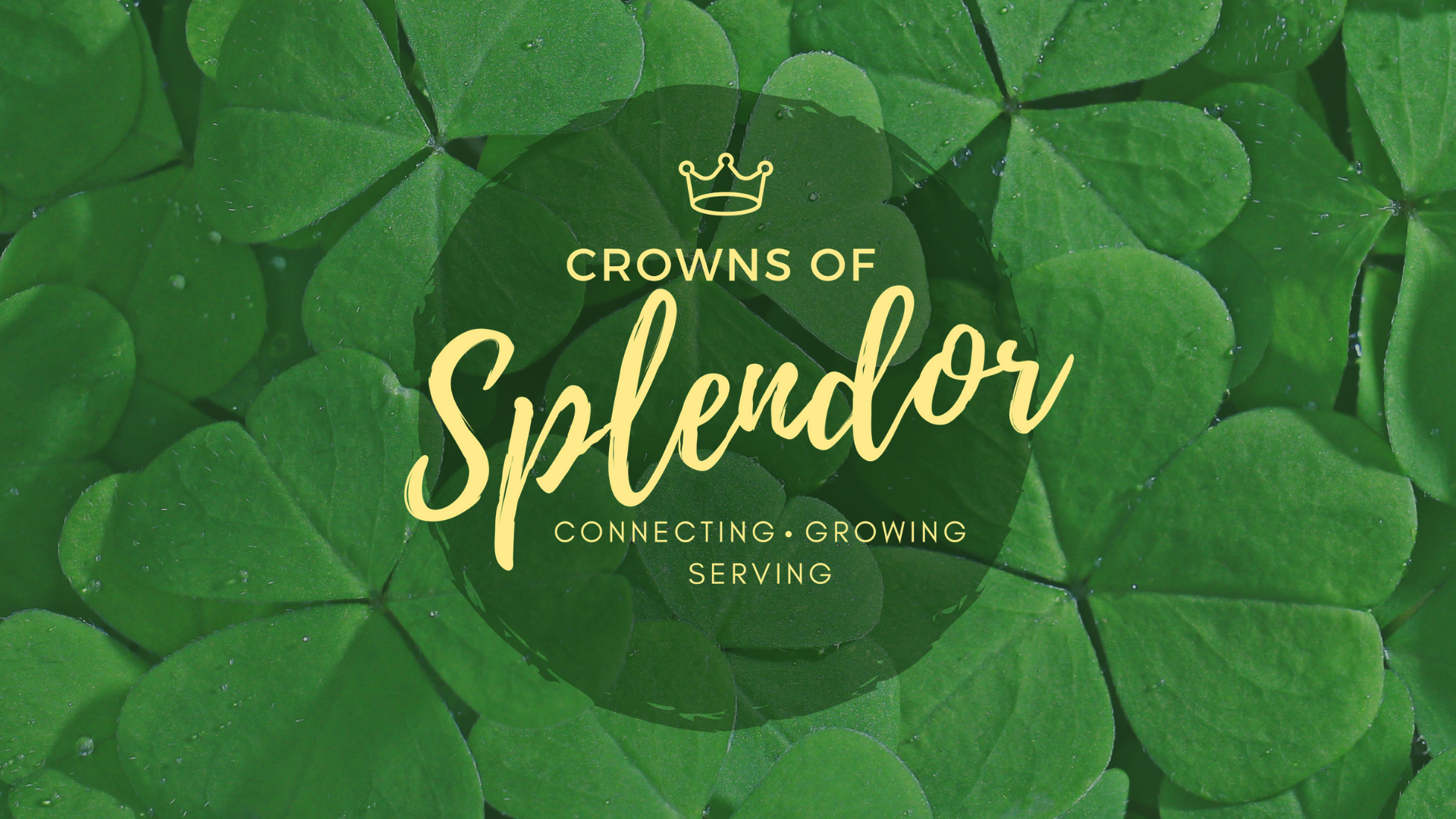 Crowns of Splendor: March Lunch and Learn
